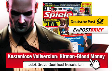 Gratis-Download: Hitman - Blood Money ©COMPUTER BILD SPIELE, Deutsche Post