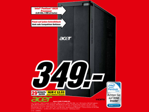 Acer Apsire X1930 PT.SJGE2.001 ©Media Markt