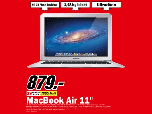 Apple MacBook Air 11 Zoll (MC968) ©Media Markt