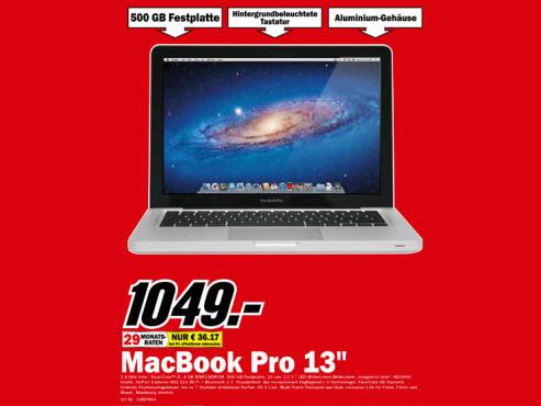 "Apple MacBook Pro 13"" (MD313D/A) ©Media Markt"