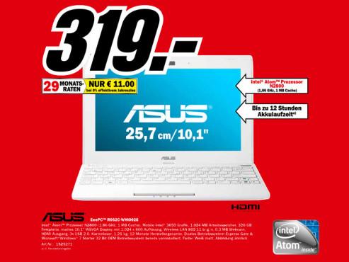 Asus Eee PC R052C-WHI0025 ©Media Markt
