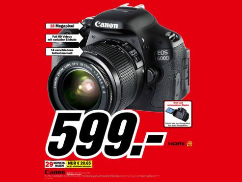 Canon EOS 600D Kit 18-55 mm ©Media Markt Preis
