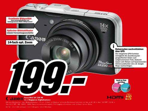 Canon Powershot SX 230 HS ©Media Markt
