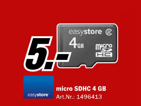 Easystore micro SDHC 4 GB ©Media Markt