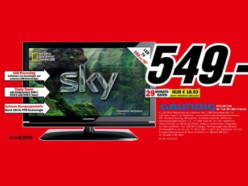 Grundig 40 VLE 8120 ©Media Markt