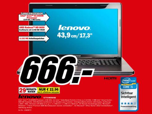 Lenovo G770-M539JGE ©Media Markt