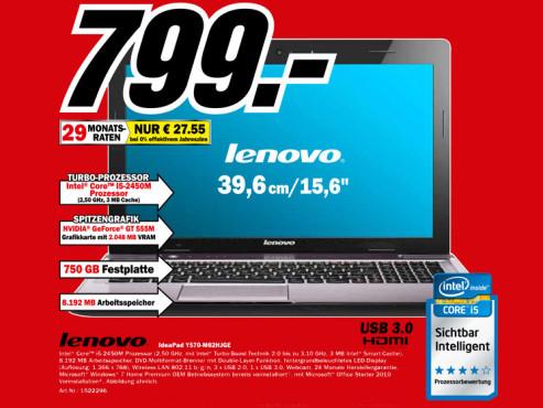 Lenovo IdeaPad Y570-M62HJGE ©Media Markt