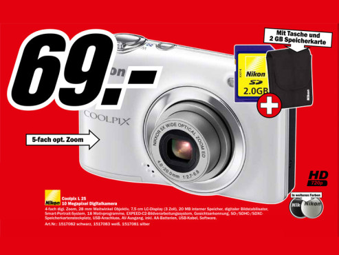 Nikon Coolpix L 25 Set © Media Markt