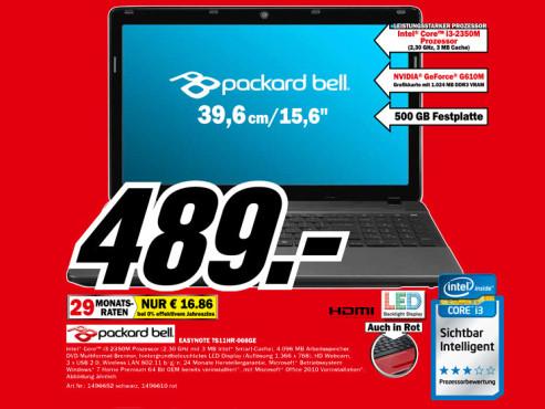 Packard Bell Easynote TS11HR-068GE ©Media Markt