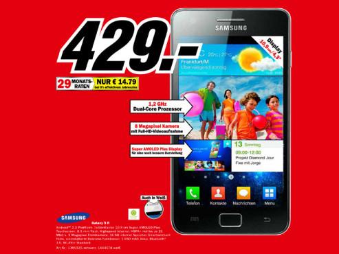 Samsung Galaxy S 2 ©Media Markt