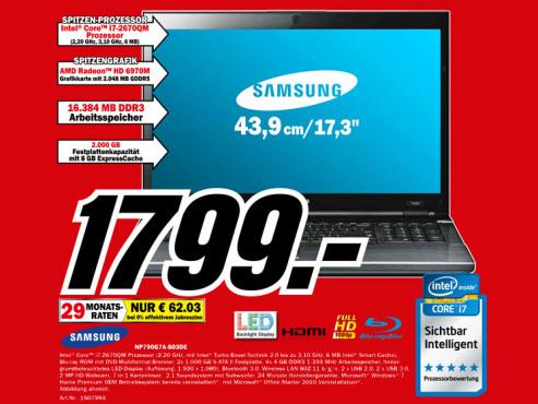 Samsung NP700G7A-S03DE ©Media Markt
