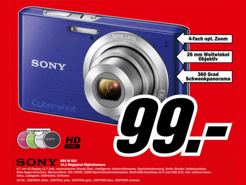 Sony Cyber-shot DSC-W610 © Media Markt