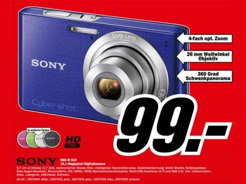 Sony Cyber-shot DSC-W610 ©Media Markt