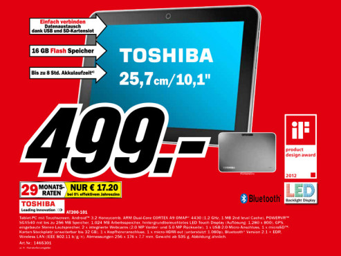 Toshiba AT200-101 © Media Markt