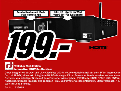 rt Inverto Volksbox Web Edition IDL 6651N © Media Markt