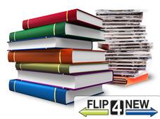 Der Internet-Ankaufdienst Flip4New gibt Ihnen für Ihre alten Bücher, CDs und Filme Bares. ©Scanrail, Asplosh – Fotolia.com, Flip4New