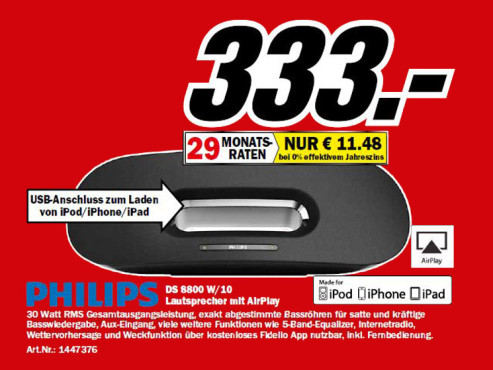 Philips Fidelio DS8800 W © Media Markt