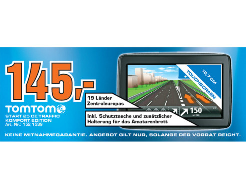 TomTom Start 25 Central Europe Traffic © Saturn