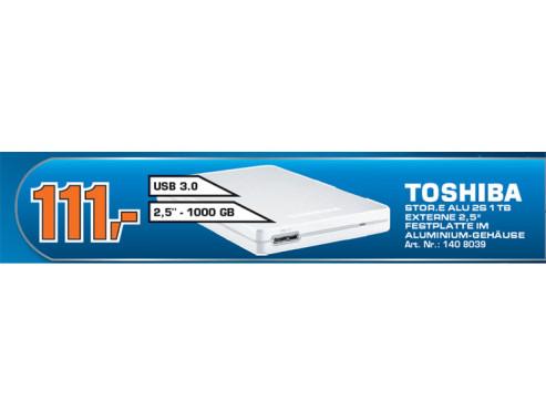 Toshiba StorE Alu 2S 1TB 2.5 silber ©Saturn