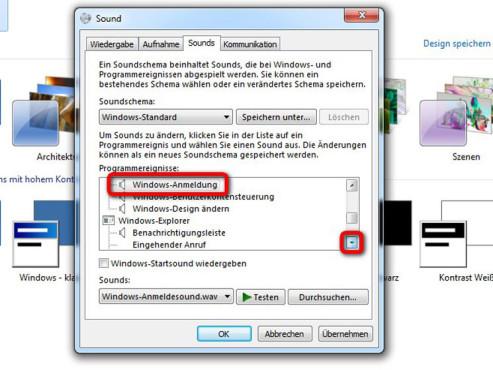 Windows Anmeldung auswählen ©Microsoft