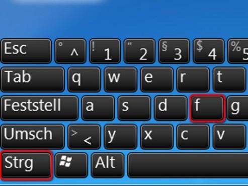 Suchfunktion im Browser öffnen ©Microsoft