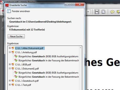 Die Adobe-Suche zeigt Ihnen die Treffer ©Adobe
