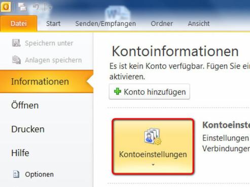 Schritt 2 ©Microsoft Outlook 2010