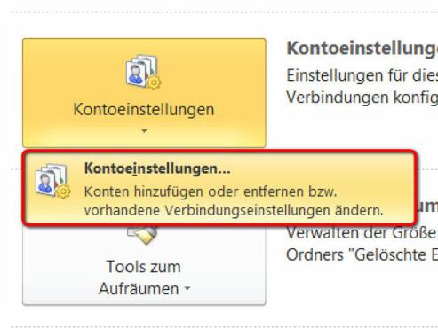 Schritt 3 ©Microsoft Outlook 2010
