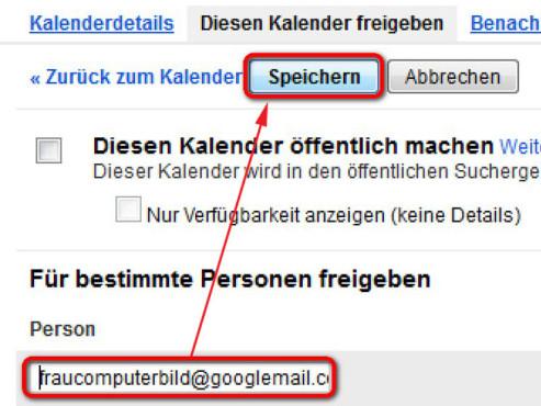 Google-Kalender verbinden ©Google