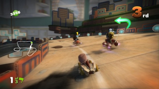 Rennspiel Little Big Planet Karting: Positionskampf © Sony