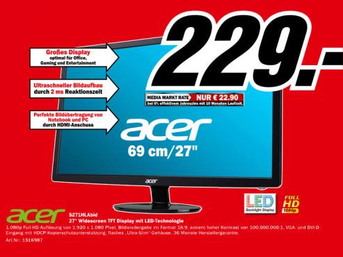 Acer S271HLAbid ©Media Markt