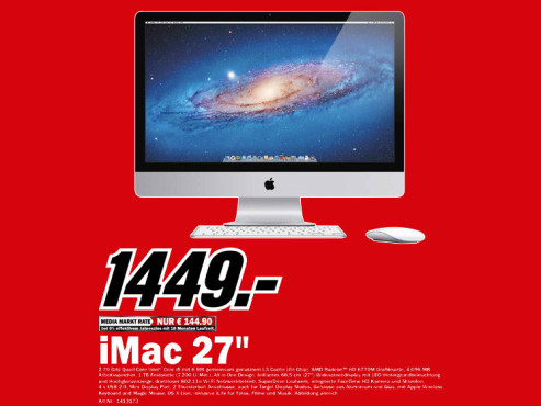 Apple iMac 27 Zoll © Media Markt