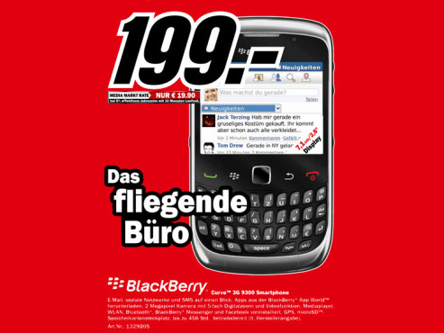 Blackberry Curve 3G 9300 © Media Markt