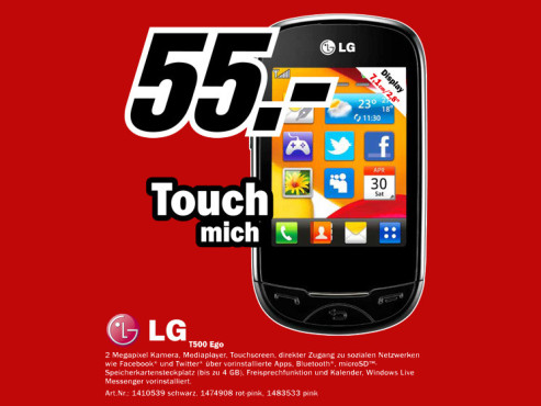 LG T500 Ego ©Media Markt
