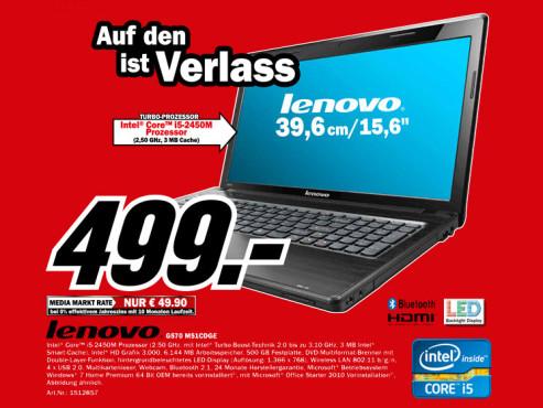 Lenovo G570-M51CDGE ©Media Markt