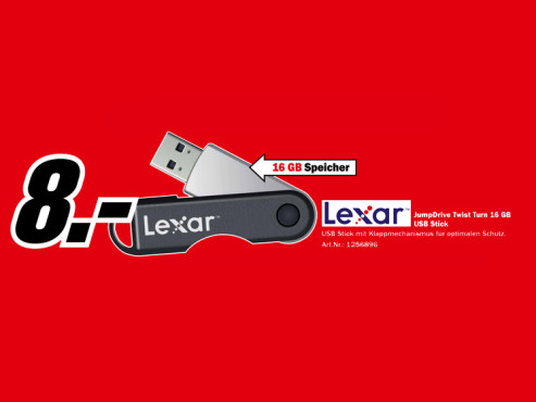 Lexar JumpDrive Twist Turn 16 GB © Media Markt