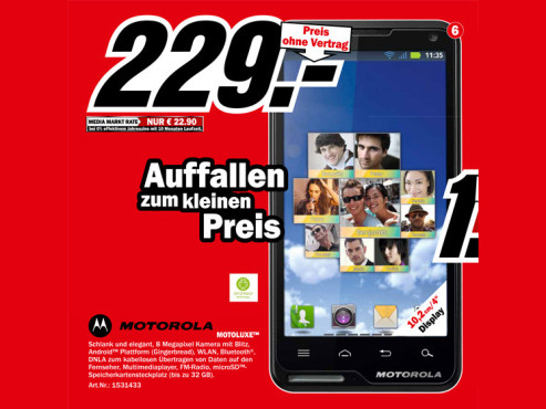 Motorola Motoluxe ©Media Markt