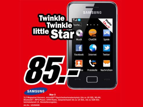 Samsung Star 3 ©Media Markt