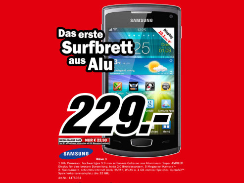 Samsung Wave 3 © Media Markt