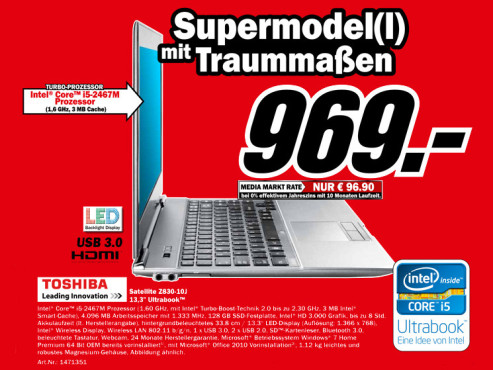 Toshiba Satellite Z830-10J (PT22LE-003007GR) © Media Markt