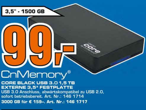 CnMemory Core Black USB 3.0