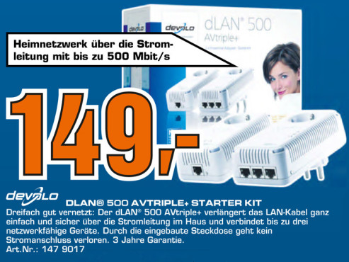 Devolo DLAN 500 AvTriple+ Starter Kit