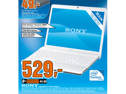 Sony Notebook VPCEH3DOE/W
