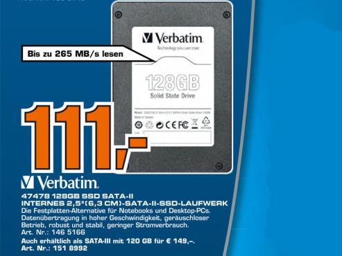 Verbatim 47478 128GB SSD SATA-II