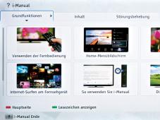 Bildschirmmen� Sony KDL-40HX755 ©COMPUTER BILD