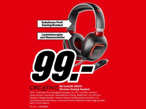 CREATIVE Sound Headset SB Tactic3D © Media Markt