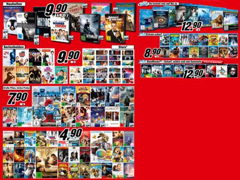 Diverse Filme auf DVD und Blu ray ©Media Markt