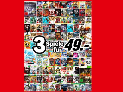 Diverse Spiele ©Media Markt