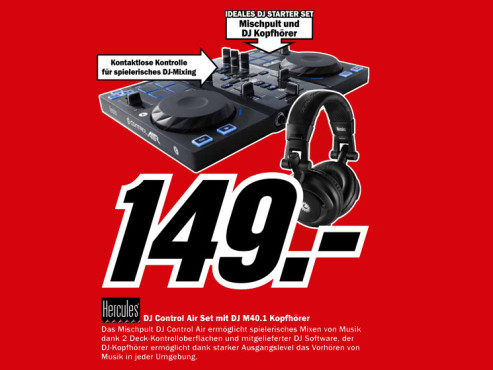 Hercules DJ Control AIR Set © Media Markt