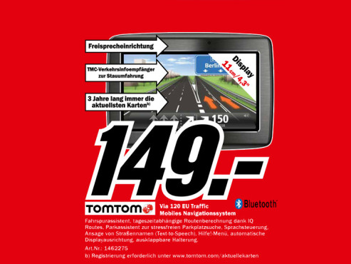 TomTom Via 120 Central Europe Traffic © Media Markt